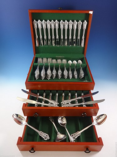 - Grande Baroque By Wallace Sterling Silver Flatware For 24 Set 100 Pieces Huge!