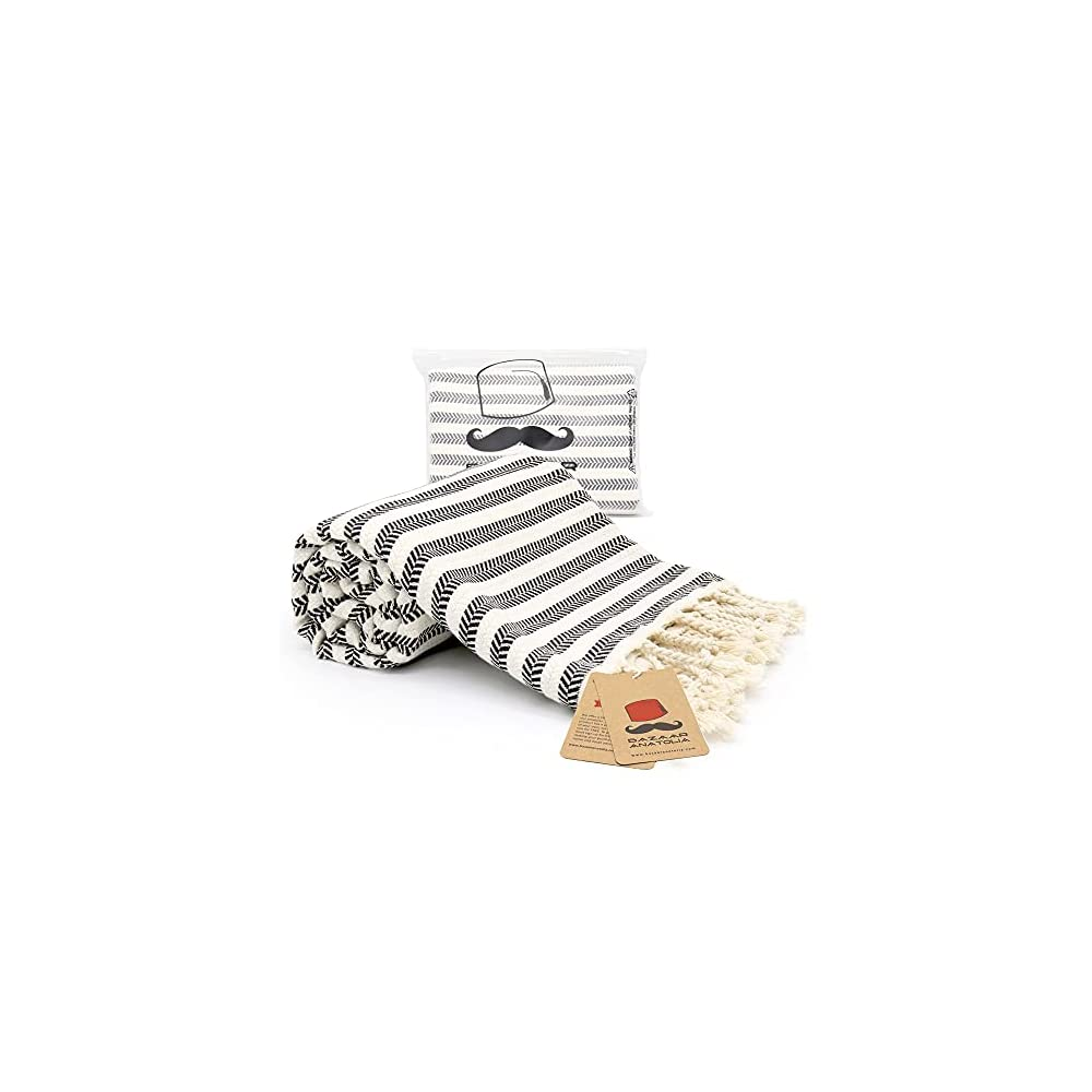 Bazaar Anatolia Arpa Turkish Towel 100% Cotton Beach Towels Oversized 77x38 Bath Towels Boho Farmhouse Bathroom Decor…