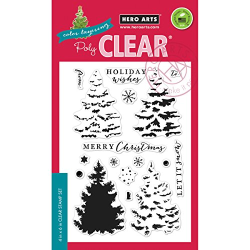 Hero Arts Color Layering Christmas Tree Design Stamp -