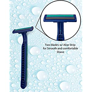 TOP BLADE 30 Counts Cheap Disposable Razors with Aloe for Men, 6-Count Packages (Pack of 5)