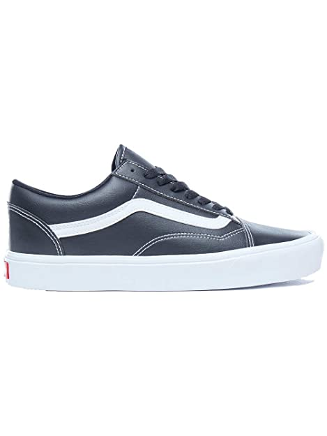 33acf90961 Vans Unisex s Old Skool Lite (Classic Tumble) Black True White Sneakers-8