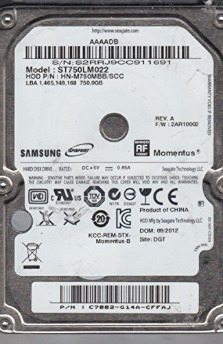 ST750LM022, HN-M750MBB/SCC, FW 2AR10002, Samsung 750GB SATA 2.5 Hard Drive