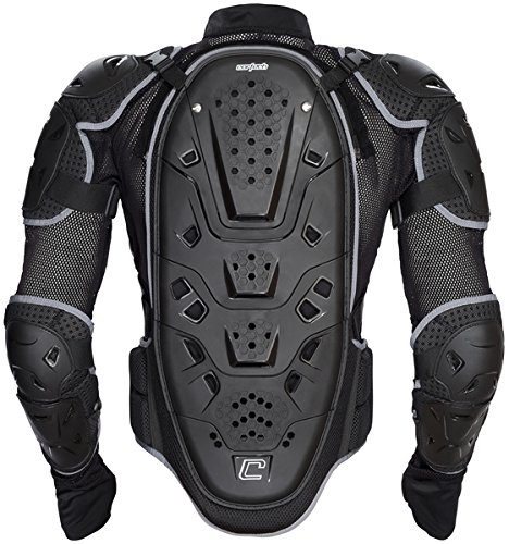 Cortech unisex-adult Accelerator Full Body Protector(Black, Large/X-Large), 1 Pack
