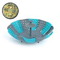 Ouken 1pc Lotus Panier Vapeur pour l'alimentation et légumes Etuve Pliant Anti-Rayures