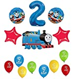 Thomas the Tank Engine Train 2nd Happy Birthday Balloon Set