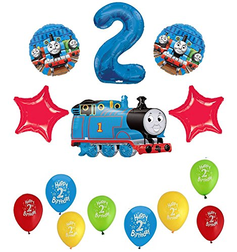Thomas The Tank Engine Train 2nd Happy Birthday Balloon Set]()