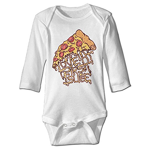Funny Vintage Unisex Pizza Baby Romper Trottie (Resurrection Rolls Recipe)