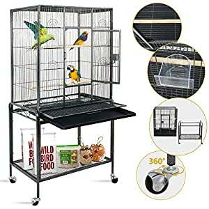 """SUPER DEAL 53"""" Large Bird Cage Play Top Parrot Chinchilla Cage Macaw Cockatiel Cockatoo Pet House, 53 inch 19"""