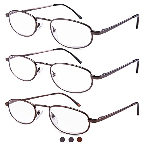 Metal Frame Unisex Spring Readers Fasion 3 Pairs /pack Enjoy Wearing Can Easily Bring Them To Anywhere You Need,like Bedroom,living Room ,office And So - Gabbana Like And Brands Dolce