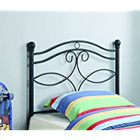 Coaster Home Furnishings 450102T Transitional Metal Youth Headboard, Twin, Black