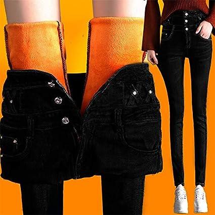 f82fd68f64967 Amazon.com: Autumn Water Winter Autumn Black Blue Slim Pencil Jeans ...