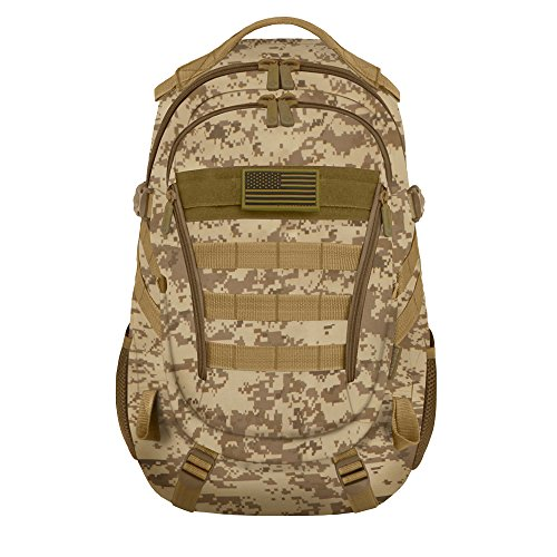 East West U.S.A RTC523 Tactical Multi-Use Molle Assault Military Rucksacks Backpack, Tan Camo (Tan Camo)