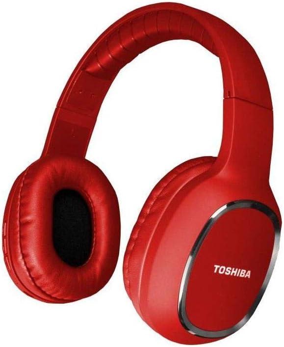 TOSHIBA RZE-BT160H - Auriculares de Diadema Deportivos, Bluetooth, Color Rojo