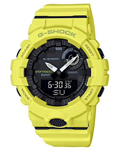 Casio G-Shock GBA800-9A Super Illuminator Bluetooth Step Tracker Yellow Watch