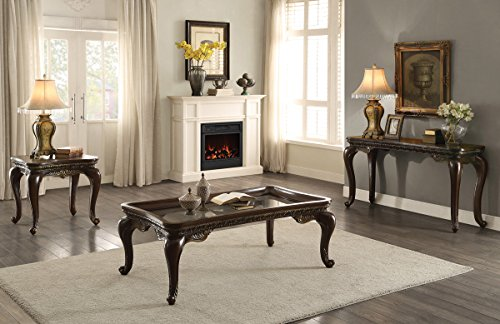 HEFX Bardonia French Provincial Cocktail Table, Sofa Table & End Table in Dark Cherry ()