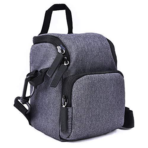 FOSOTO Camera Bag Shoulder Bags Case with Strap Compatible for Canon EOS G7X VIXIA HF R700 R800 Camcorder,Panasonic Lumix DMC-TZ90 TZ80 TZ70 LX100 ZS100 GX7,Sony Nex-7 A6300,Nikon L340 L31 J5,Fujifil