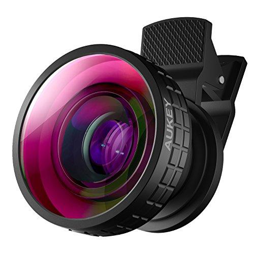 AUKEY Fischauge Handy Objektiv 180 Grad Clip On mit Klemme Fisheye Smartphone Objektiv für iPhone / Samsung / Huawei usw. Oder Tablet