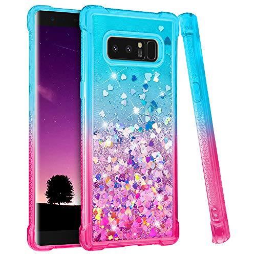 Ruky Samsung Galaxy Note 8 Case, Gradient Quicksand Series Glitter Flowing Liquid...