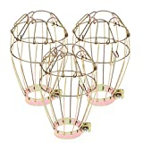 Baosity 3 PCS Reptile Heat Lamp Lampshade Industrial Vintage Style Metal Wire Cage Lighting Light Fixture