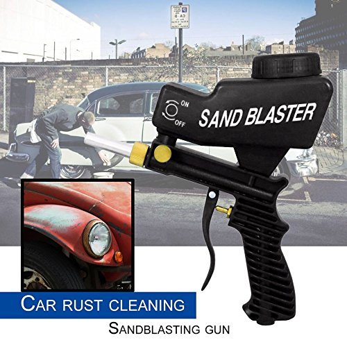 Baynne Gravity Feed Sandblasting Gun Portable Speed Blaster for Rust Removing(Color (Speed Blaster Sandblast Gun)
