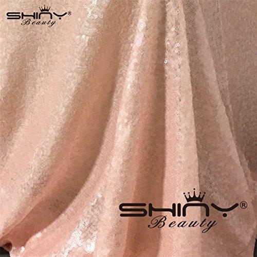 ShinyBeauty Pink-Aisle Runner-50FTX4FT,Glitter Sequin Wedding Aisles Floor Runner,Sparkle Carpet Runner (Red) by ShinyBeauty