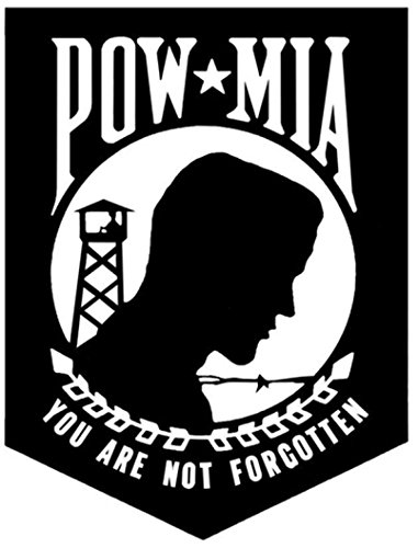 32 & Willys LLC POW MIA Logo Decal 5 inch White | Military | USA |We The People | III% | 3%| Merica | Trump | USMC | USAF | Army | Navy | Deplorable | car Tuck Van Laptop MacBook Bumper Sticker