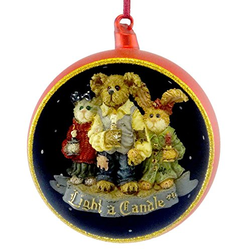 Boyds Bears Resin CHANDLER, CONSTANCE AND FELICITY 25723 Christmas Cat Ornament