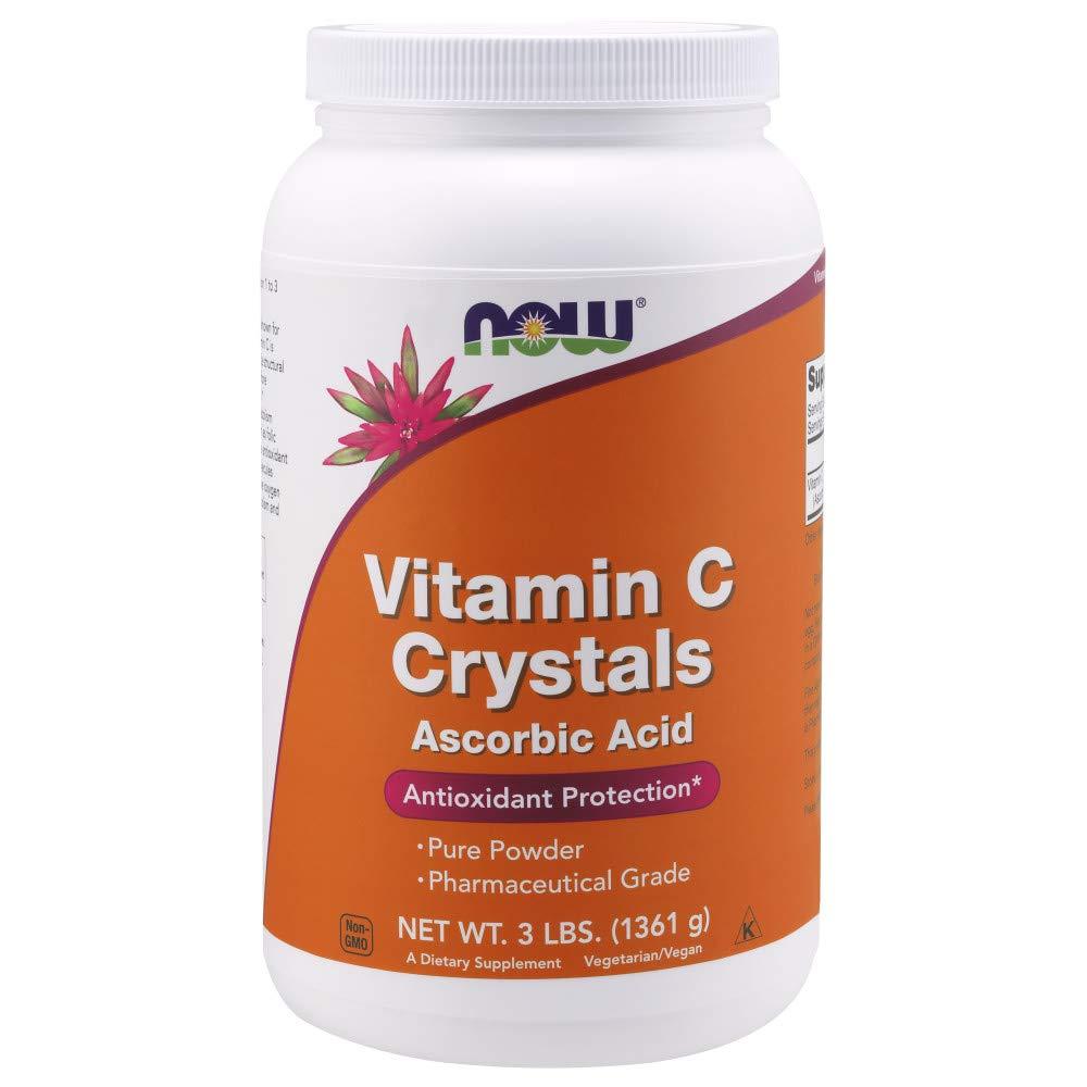 NOW Supplements, Vitamin C Crystals, 3-Pound