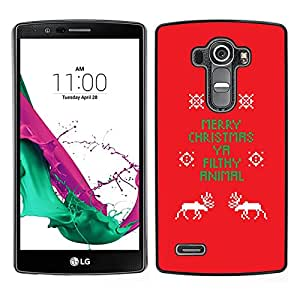 For LG G4 , S-type® Christmas Funny Text Red X-Mas - Arte & diseño plástico duro Fundas Cover Cubre Hard Case Cover