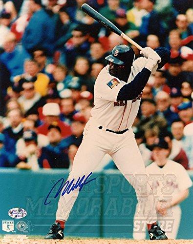 Mo Vaughn Boston Red Sox Signed Autographed at Bat 8x10