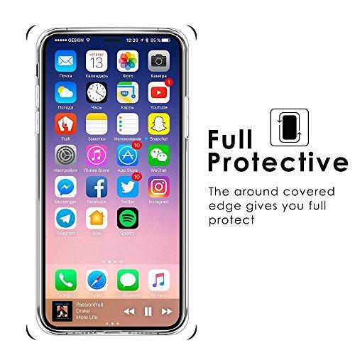 Ultra Coque Silicone Transparent 3 De En Pour Marbre Etui X conception Film Tpu Color X Protection Iphone Housse Mince Crystal Wouier dqYtpwq