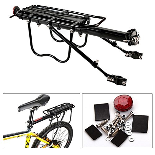 WINOMO Adjustable Bicycle Seatpost Cargo Rack Bike Carrier Rack with Reflector