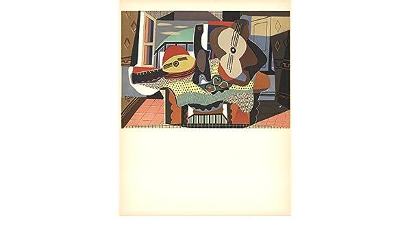 1958 Pablo Picasso mandolina de guitarra y Litografía: Amazon.es ...