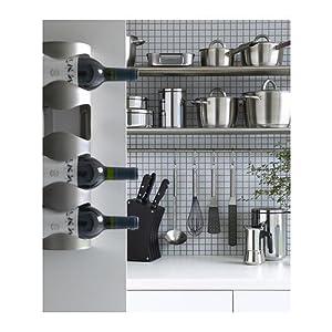 Ikea Stainless Steel 4-bottle Wine Rack 300.557.60