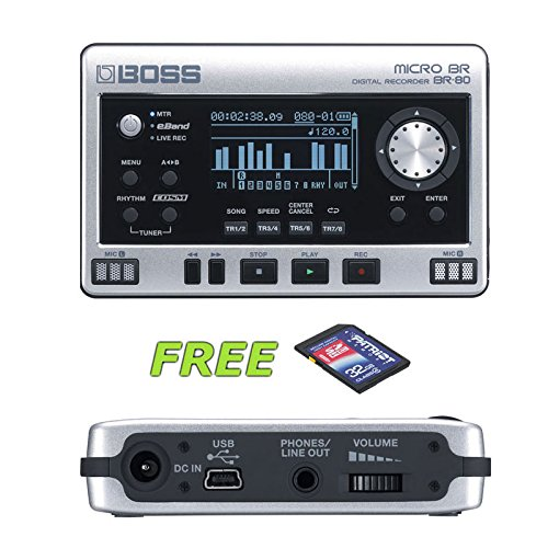 Boss Micro BR BR-80 Digital Recorder with a Free Patriot 32GB SD Card by BOSS