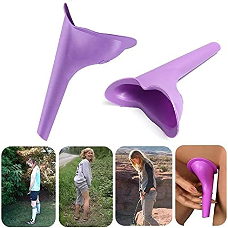 Portable Female Women Urinal Urination Toilet Silicone Urine Pee Device Funnel Camping Travel camping gear female urinal female urinal travel urinal stand up and pee by Randall Elliott