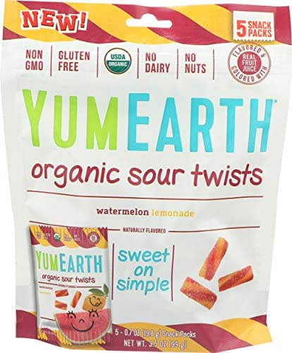 YUMEARTH Organic Sour Twist Watermelon Lemonade, 0.7 OZ