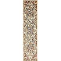 Unique Loom Copenhagen Collection Beige 3 x 13 Runner Area Rug (3 x 13)