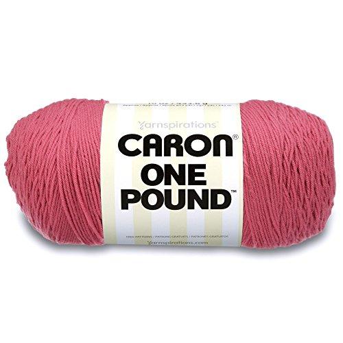(Caron  One Pound Solids Yarn - (4) Medium Gauge 100% Acrylic - 16 oz -  Rose- For Crochet, Knitting & Crafting)