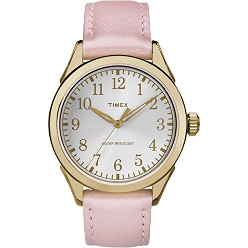 Watch Leather Pink (Timex Women's TW2P99100 Briarwood Terrace Light Pink Leather Strap Watch)