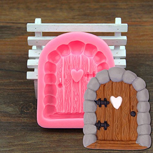 Dovewill 2pcs Silicone Cake Window Door Mould Cupcake Decorating Chocolate Mold Pink by Dovewill (Image #2)