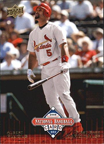 2008 Upper Deck National Baseball Card Day #UD11 Albert Pujols - St Louis Cardinals - Promo Baseball Card
