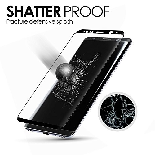 Galaxy S8 Plus Screen Protector (Full Screen Coverage), VPR 9H Hardness 2.5D Tempered Glass Ultra-Clarity Highly Responsive Bubble-Free Scratch-Proof for Samsung Galaxy S8 Plus/ S8+
