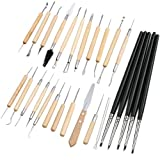 LING'S SHOP DIY 27Pcs Clay Pottery Sculpture Carving Modelling Ceramic Hobby Tools Set Art Craft Assorted Length