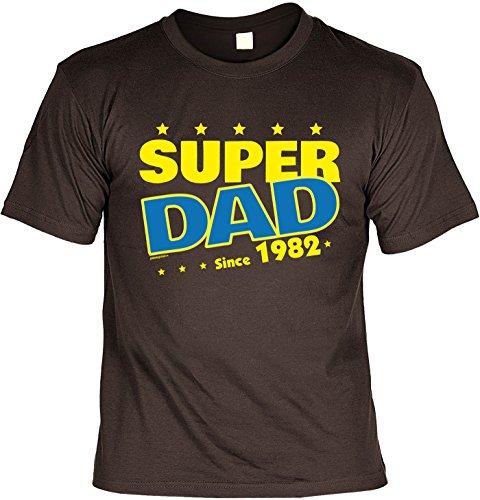 T-Shirt - Super Dad Since 1982 - lustiges Sprüche Shirt als Geschenk zum 35. Geburtstag