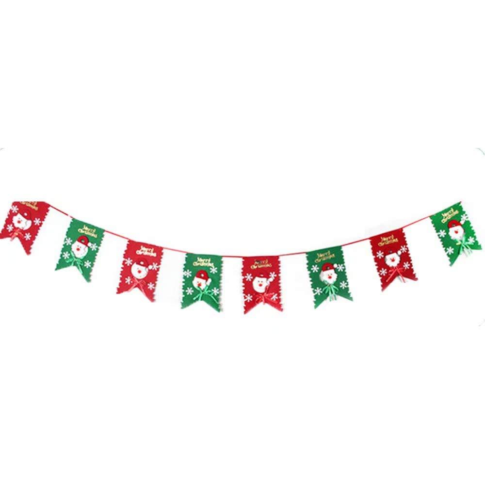 Youngate Merry Christmas Banner Christmas Banner for Home Christmas Decor#2