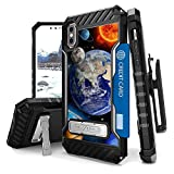 Iphone X Case, Trishield Durable Rugged Phone Cover With Detachable Lanyard Loop Belt Clip Holster And Built in Kickstand Card Slot For Iphone X - Solar Planet Galaxy