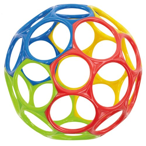 Oball(TM) Original (4.5 inches) - Blue/Red/Green/Yellow (Rhino Yellow)