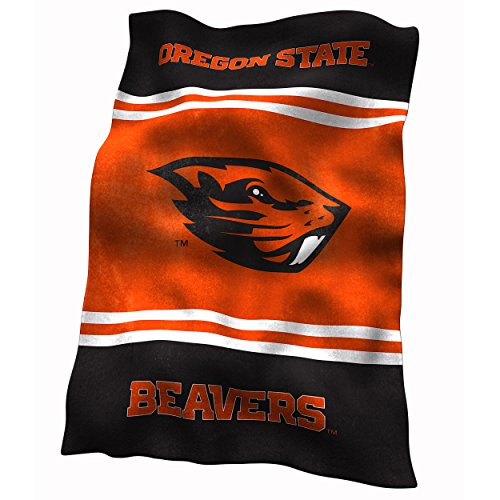 Logo Brands NCAA Oregon State Beavers Ultrasoft Blanket Oregon State Plush
