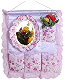 Household Storage Storage Boxes Creative Hanging Storage Bags With Mirrors
